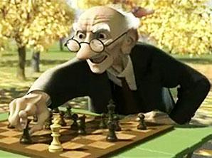 视频:奥斯卡短片――孤独的下棋老人