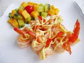 水果色拉虾